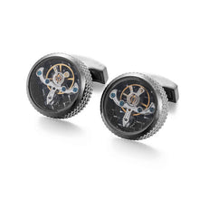 Tourbillon Cuff Links, Hex Edge