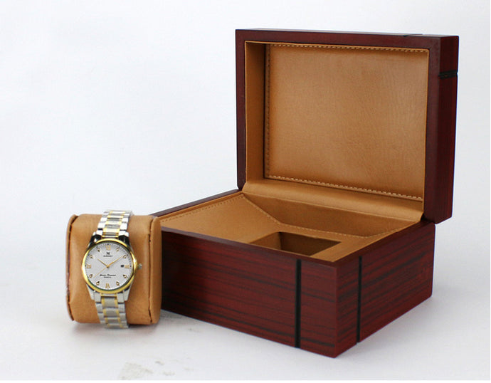 Luxury Wooden Watch Box with Tan Interior