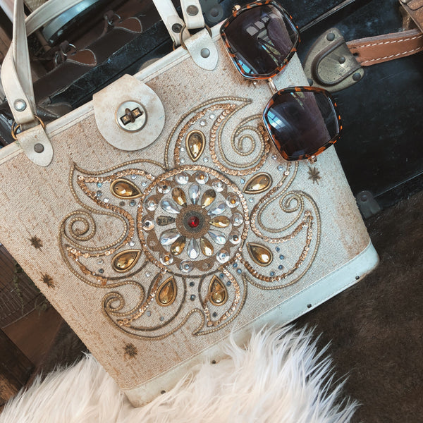 vintage jewelled sun purse