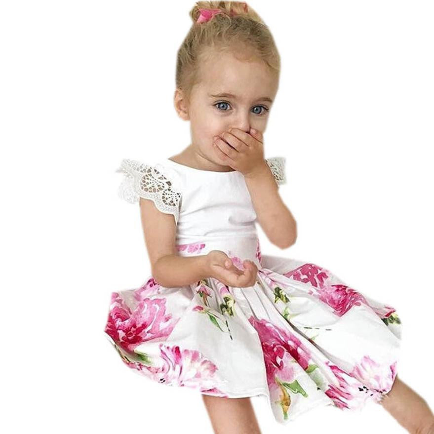Lovely Floral Print  Dress + Headband for Girls