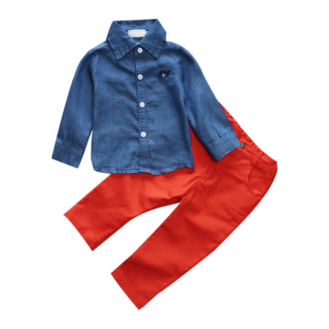 Stylish Shirt and Pants Set for Boys