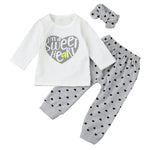 """I'm a Sweetheart"" Set Top + Pants + Headband"