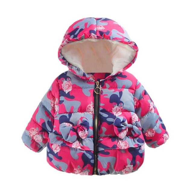 Camouflage Hooded Jacket for Girls