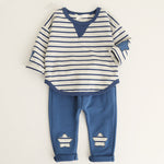Striped Star Outfit for Little Boys