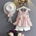 Baby Girl's Casual Summer Floral Oufit Set