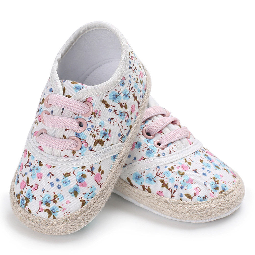 Cute Floral Sneakers for Toddler Girl