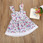 Lovely Floral Sleeveless Dress for Girls