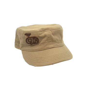 Puffy Trailer Khaki Military Hat
