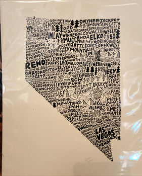 8x10 Nevada Print Wander on Words