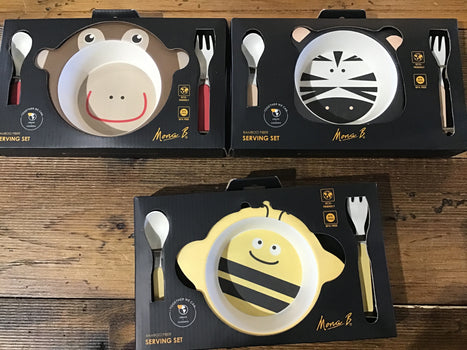 Bamboo Kids Serving Set- Assorted