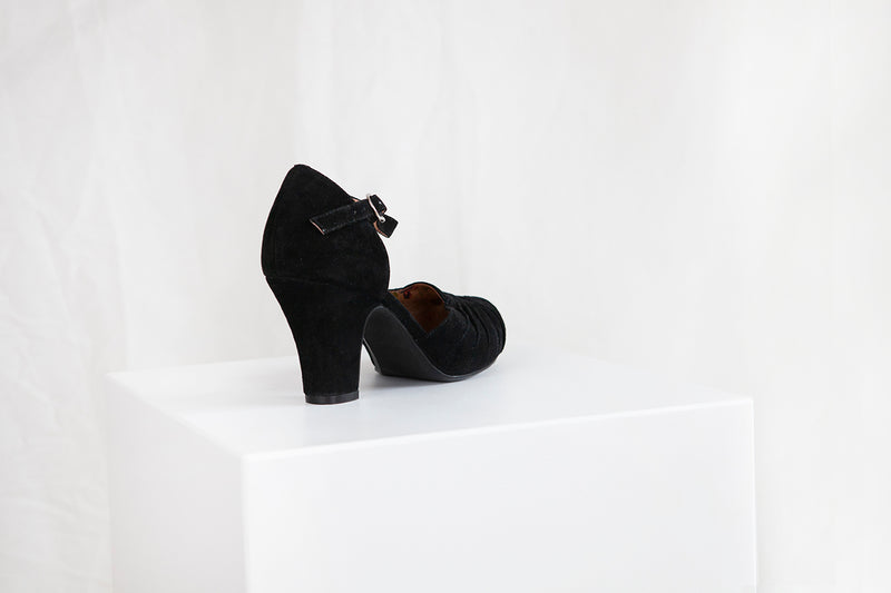 Amber Luxe Black Suede