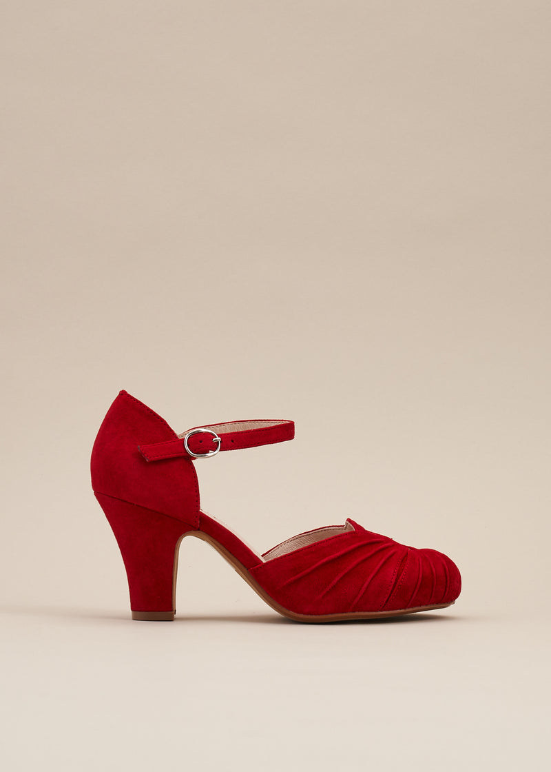 Amber Ruby Red Classic Ankle Strap Heel- LAST FEW PAIRS!