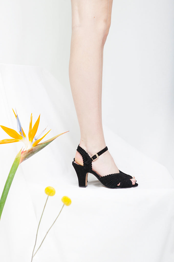 Beatriz Black Suede