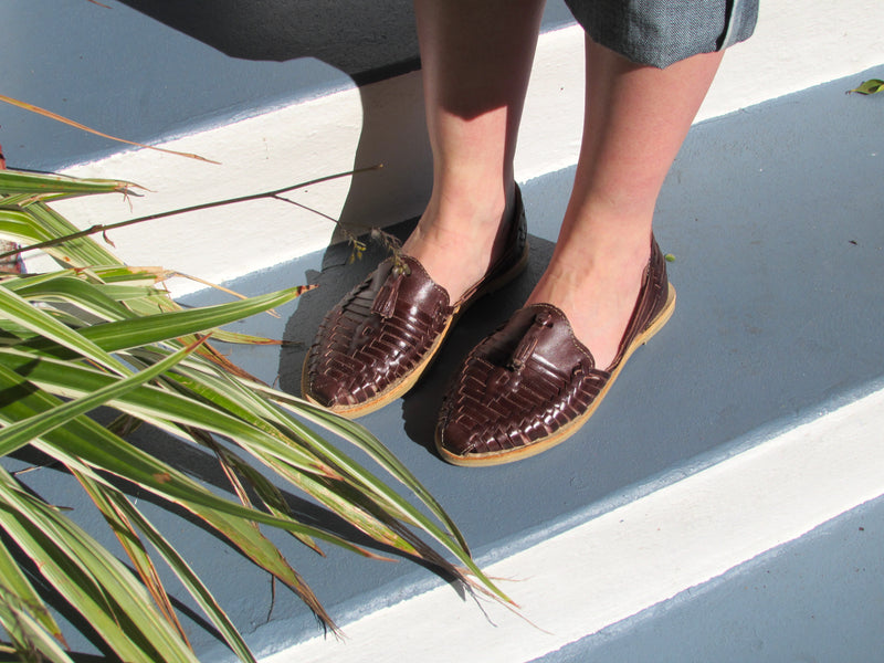 Dulce Mocha Slip on Tassel Huaraches