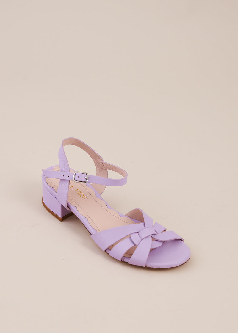 Isla 2 Lilac Interlaced Leather Low Heel Sandal