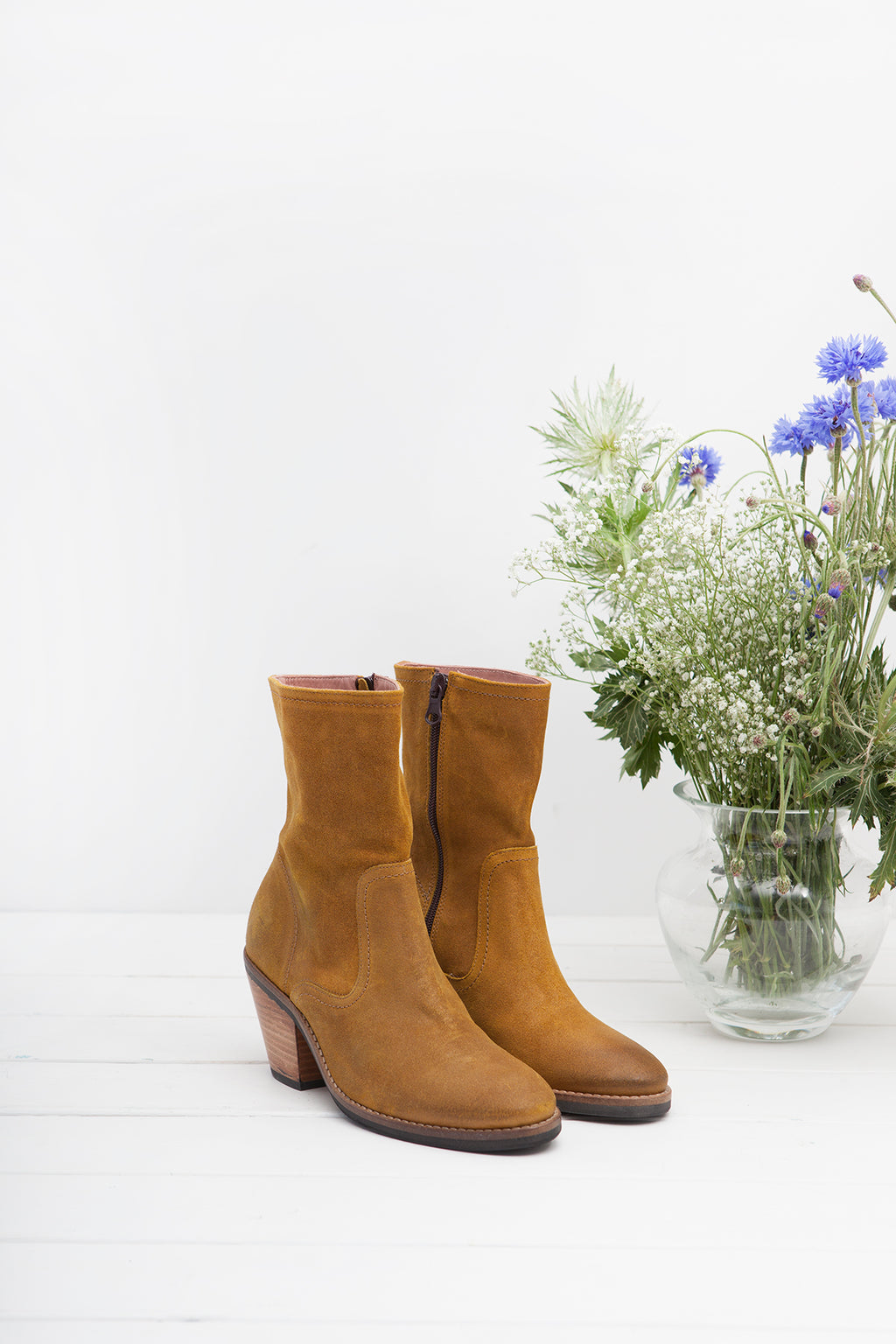 Jane Mustard Zip Up Boot- LAST FEW PAIRS!