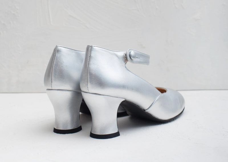 Lillian Silver Mary Jane Louis Heel- LAST FEW PAIRS!