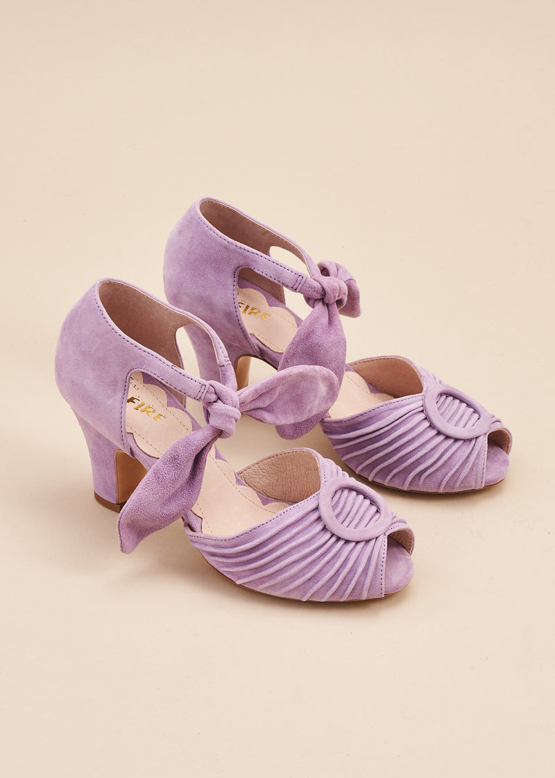 Loretta Lilac Luxe Ruched Peep Toe Heel