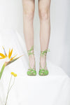 Paloma Apple Green Spaghetti Strap Heel