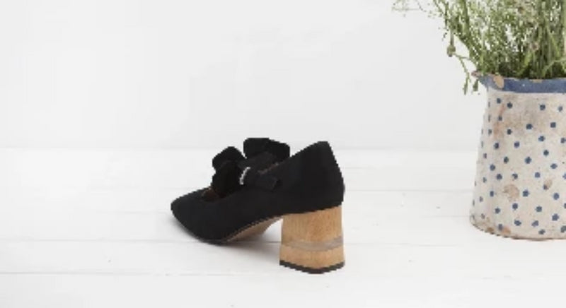 Pamela Black Mary Jane Block Heel