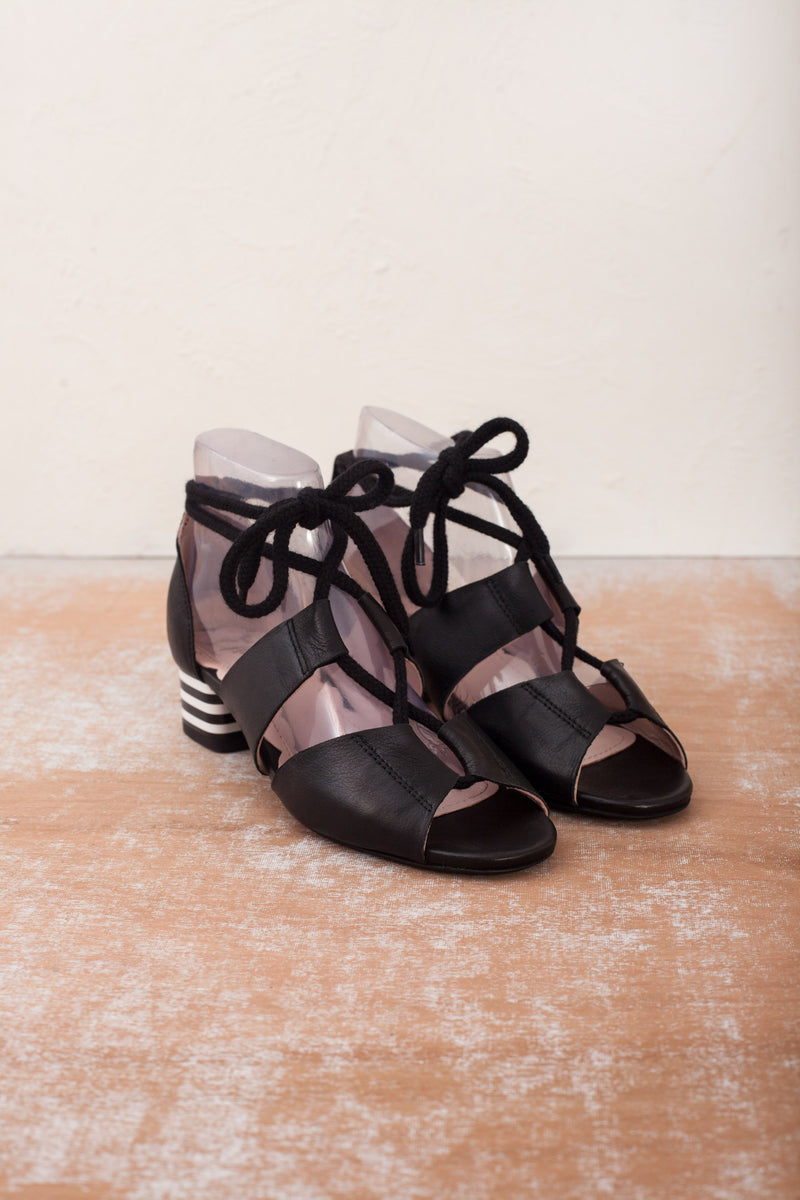 Mable Black Ankle Tie Sandal- LAST FEW PAIRS!