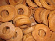 1/2 lb Biscotti Rings- Blueberry Banana