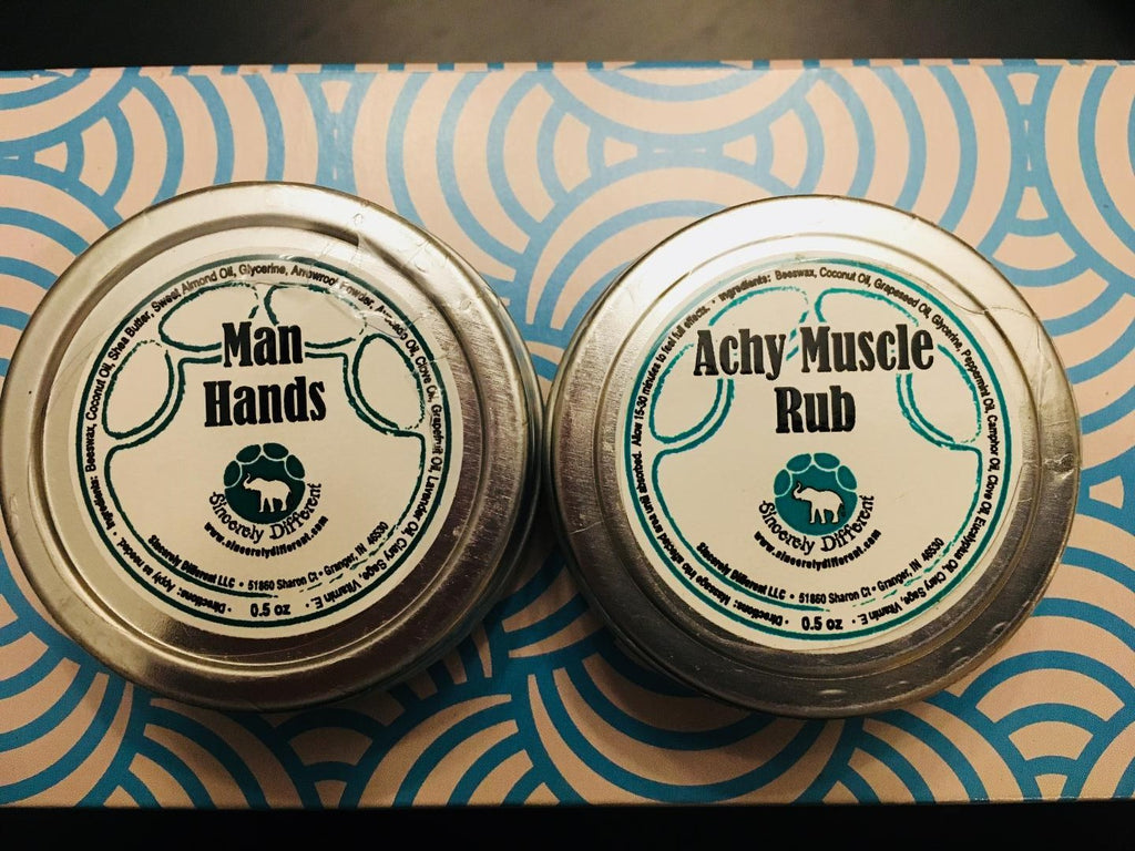 The Perfect Guy's Gift Set: Man Hands & Achy Muscle Rub