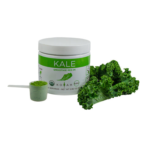 Organic Kale Powder: Freeze Dried, Raw - 80 g (Equal to 30 Cups of Fresh Kale)