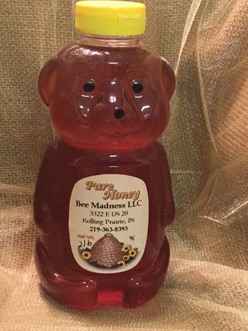 Delicious Raw Local Honey 2 lb Bear
