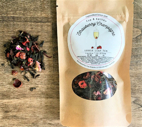 Strawberry Champagne Tea - 1oz