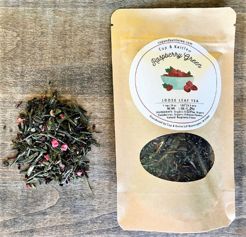 Raspberry Green Tea  1oz Bag