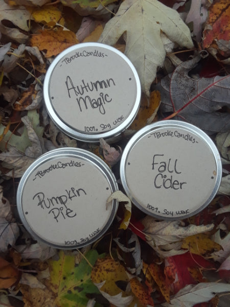 Fall Scented Soy Candles (Pack of 3)
