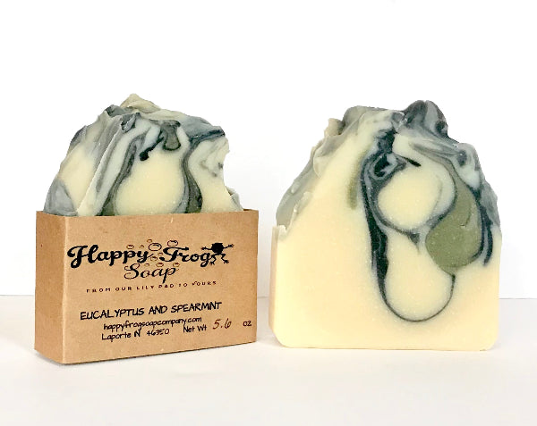 Eucalyptus and Spearmint 5-6 ounce handmade soap