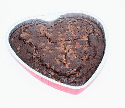 Organic 9 Inch Heart Cake- Chocolate
