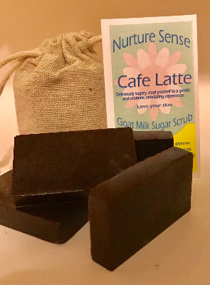 Goat Milk Sugar Scrubs, Cafe Latte (pack of 4) 3.5 oz