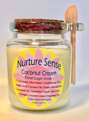 Coconut Cream Facial Sugar Scrub 8 oz