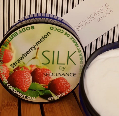 Silk by Seduisance Body Butter strawberry melon scent, 6 oz
