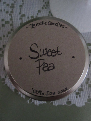 6 oz. Sweet Pea Soy Candle