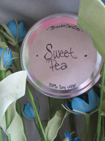 8 oz. Sweet Pea Soy Candle