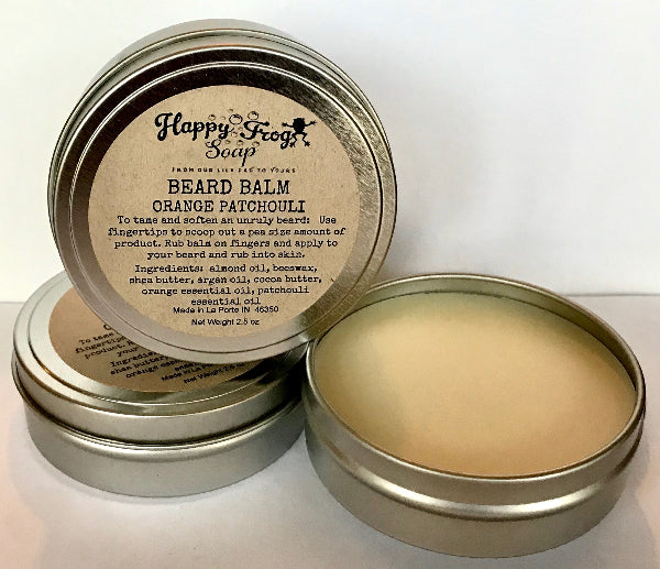 Beard Balm with Orange and Patchouli.  2.5 ounce