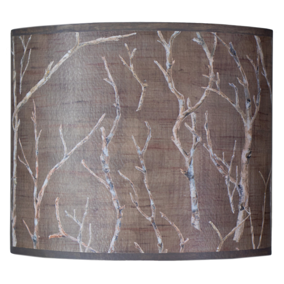 Large Oval Drum Lamp Shade in Twigs