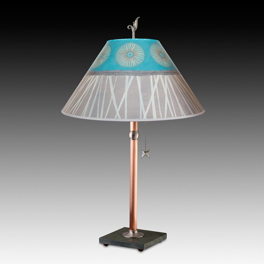 Pool Table Lamp with Large Conical Shade