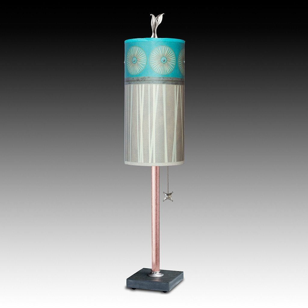 Pool Small Table Lamp with Tube Shade