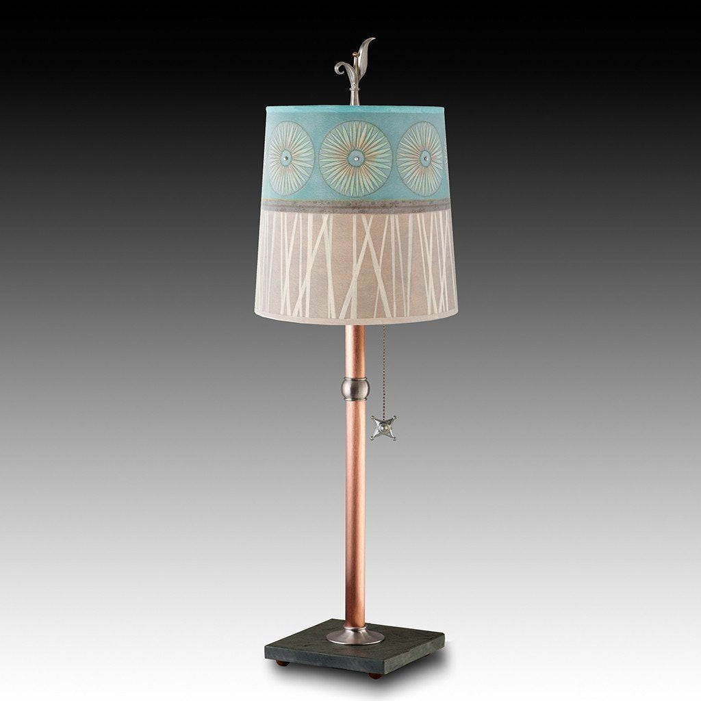 Pool Table Lamp with Medium Drum Shade