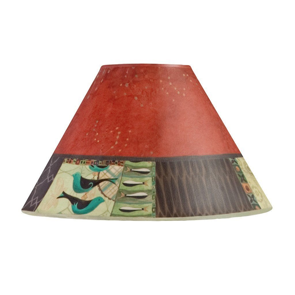 Match in Red Medium Conical Lamp Shade