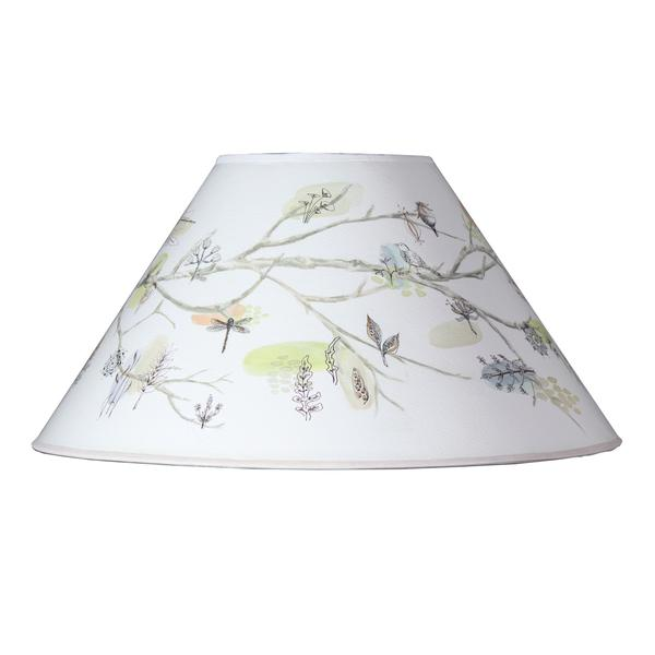 Large Conical Lamp Shade in Artful Branch