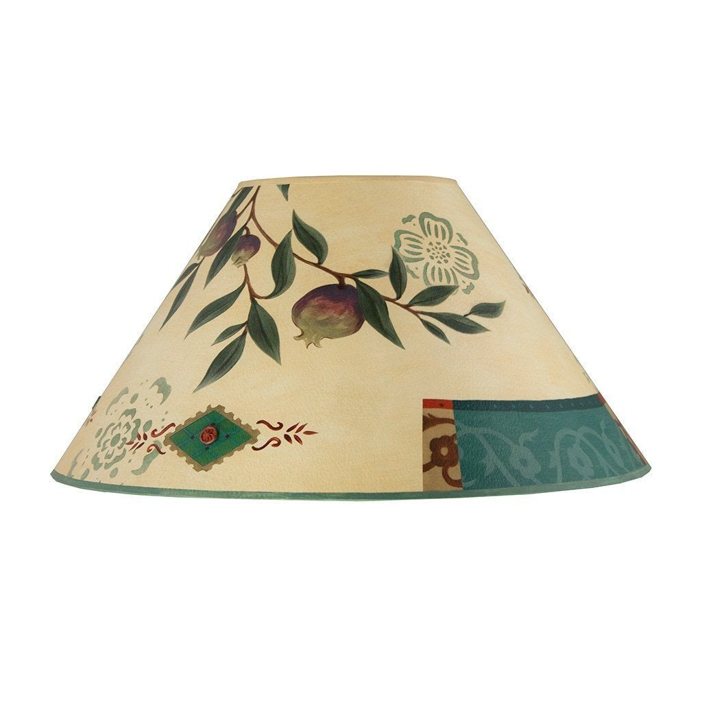 Pomegranate Large Conical Lamp Shade