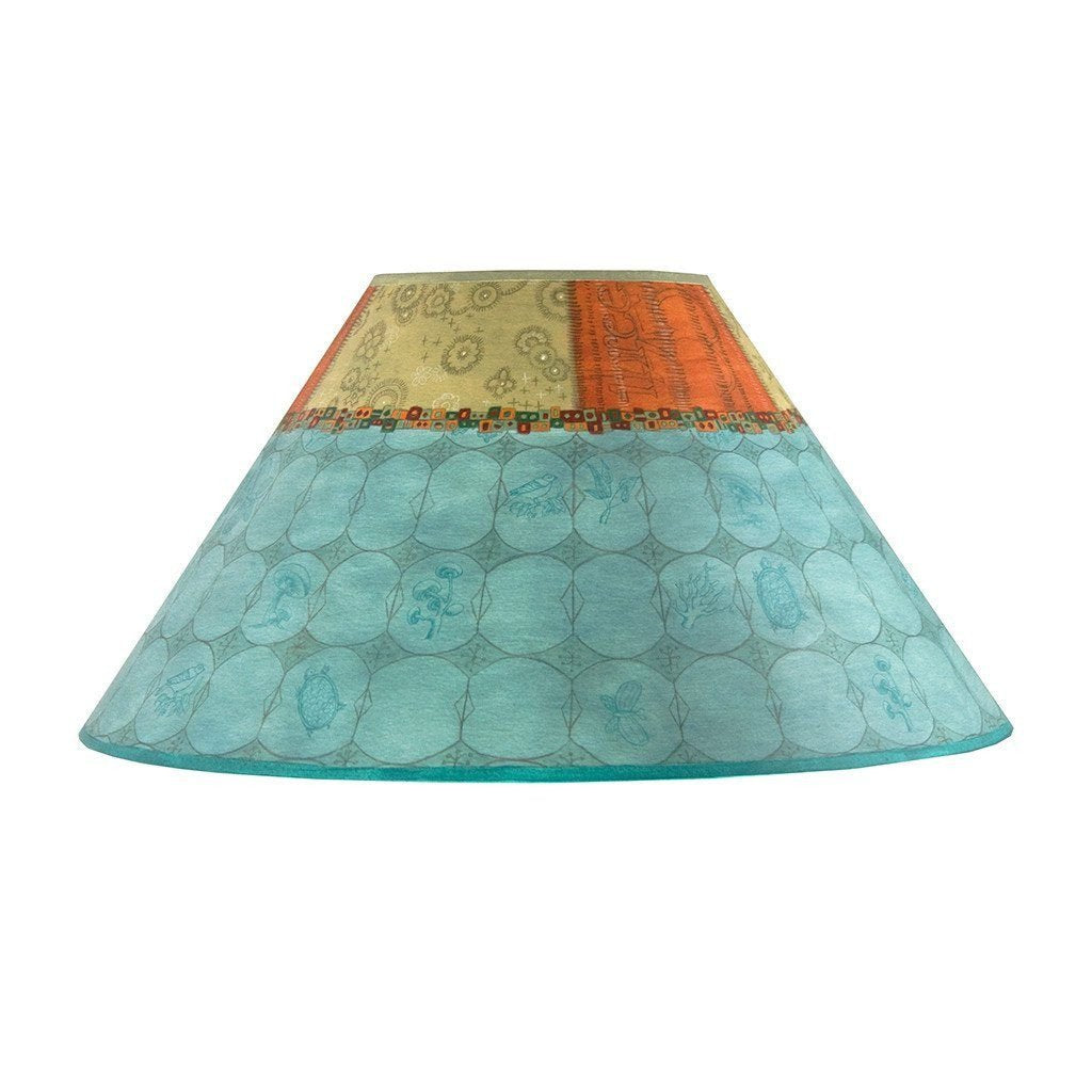 Paradise in Pool Large Conical Lamp Shade