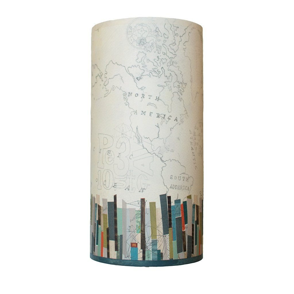 Papers Edge Accent Tube Lamp Shade