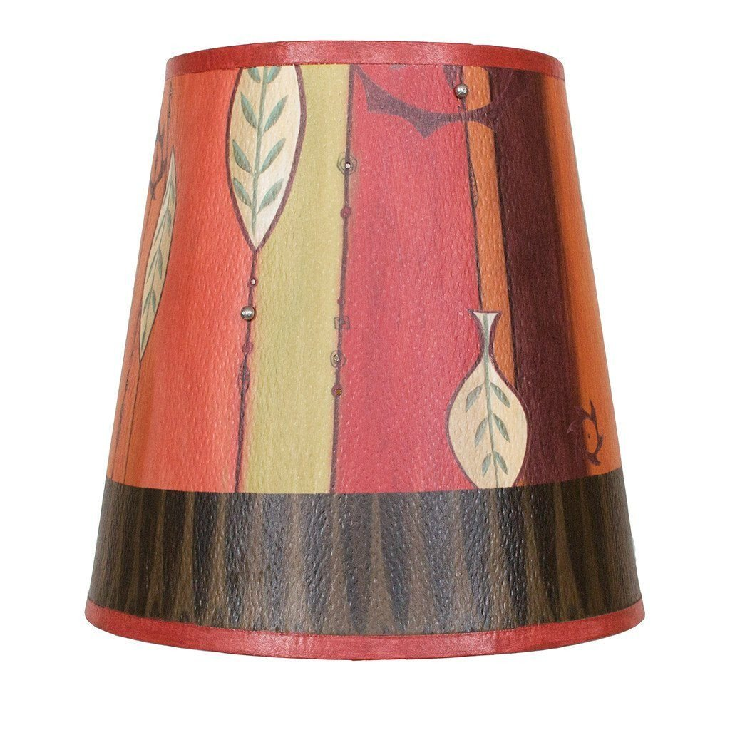 Leaf Stripe Multi Accent Drum Lamp Shade